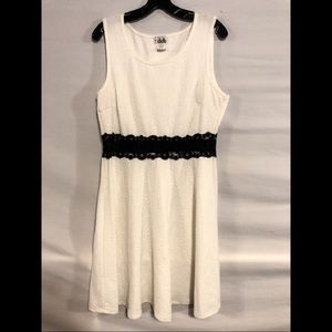 Black and White lace Deb Dress